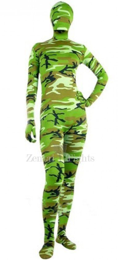 Full Body Morph Suit Zentai Tights Green Soldier Camouflage Morph Suit Zentai suit