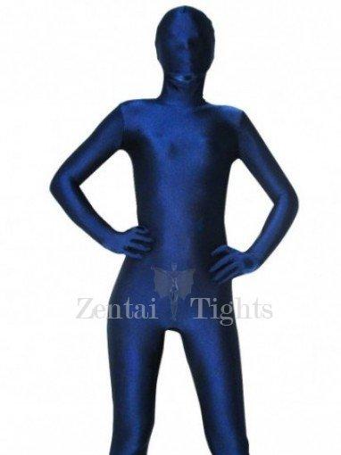 Unicolor Full Body Morph Suit Zentai Tights Dark Blue Spandex Morph Suit Zentai Suit
