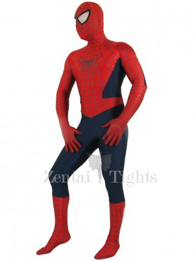 Cheap Red Lycra Spandex Unisex Spiderman Costume