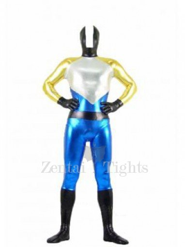 Four-Color Shiny Metallic Unisex Morph Suit Zentai Suit