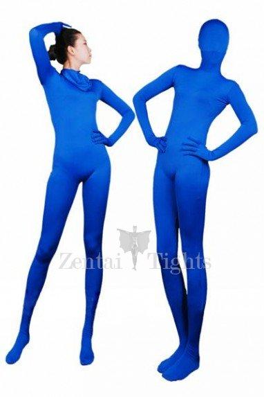 Blue Lycra Spandex Unisex Morph Suit Zentai Suit