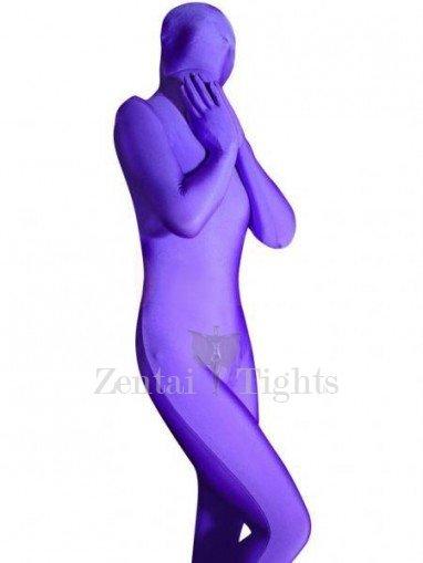 Cheap Purple Lycra Spandex Unisex Morph Suit Zentai Suit