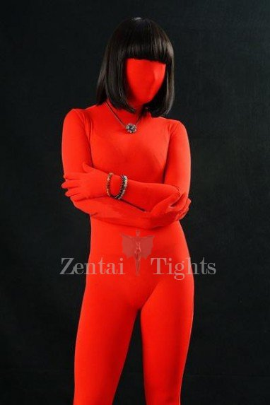 Perfect Ideal Suitable Red Lycra Spandex Unisex Morph Suit Zentai Suit