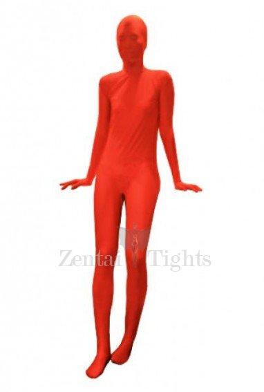 Red Lycra Silk Unisex Morph Suit Zentai Suit