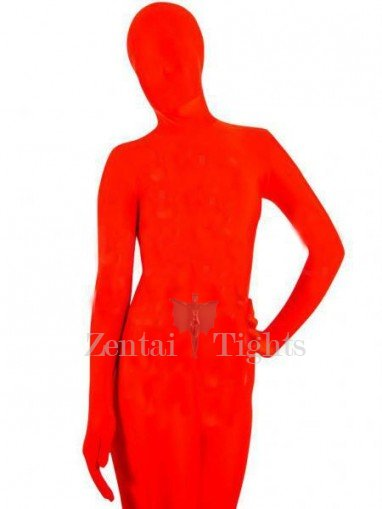 Red Lycra Spandex Unisex Catsuit