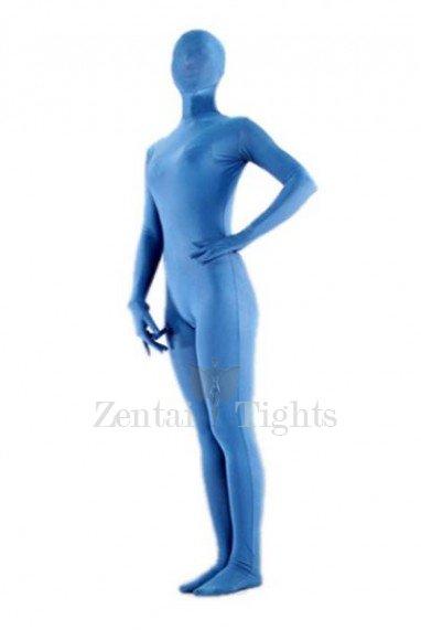 Superior Pale Blue Lycra Spandex Morph Suit Zentai Suit
