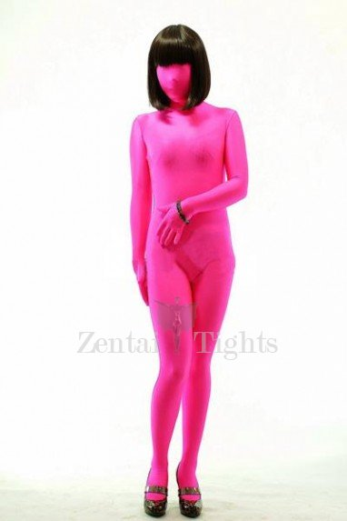 Fuxia Lycra Spandex Unisex Morph Suit Zentai Suit