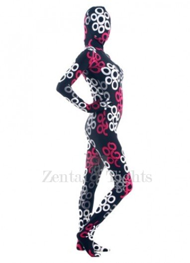 Colorful Lycra Spandex Breathable Morph Suit Zentai Suit