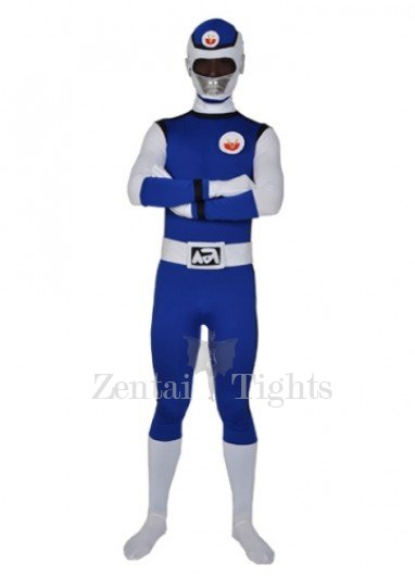 Deep Blue Lycra Spandex  Men\'s Morph Suit Zentai Suit