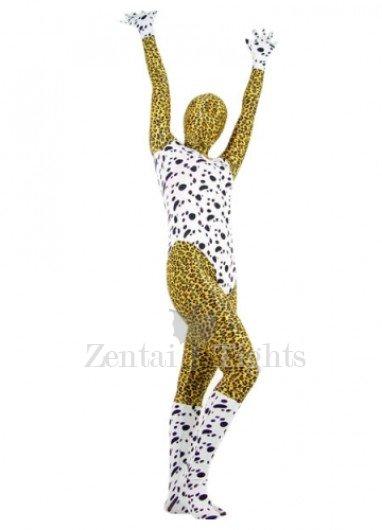 Lycra Spandex Dalmatians Leopard Morph Suit Zentai Suit