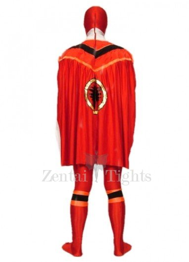 Red Lycra Spandex Super Hero Morph Suit Zentai Suit