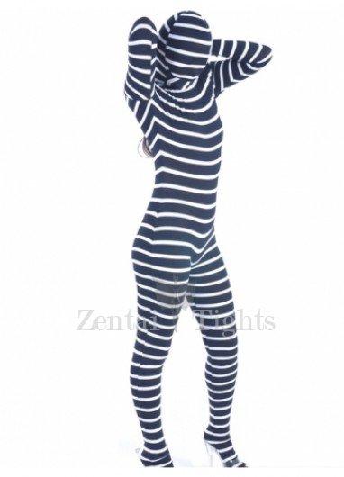 Zebra Lycra Spandex Unisex Morph Suit Zentai Suit