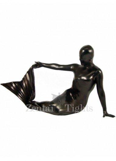 Black Shiny Metallic Mermaid Suit