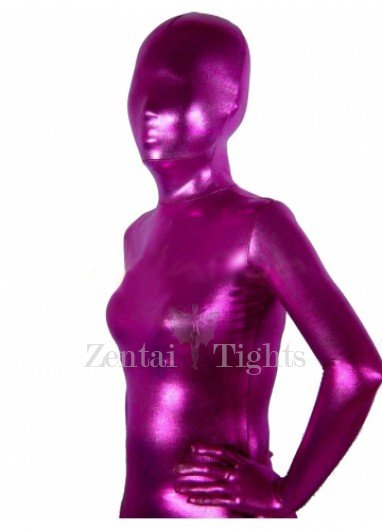 Heavy Red Pink Shiny Metallic Unisex Morph Suit Zentai Suit