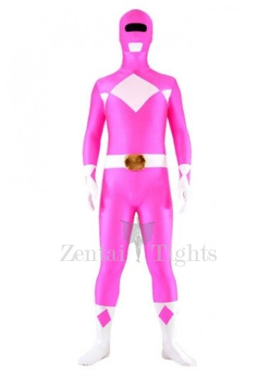Rose And White Lycra Spandex Unisex Morph Suit Zentai Suit