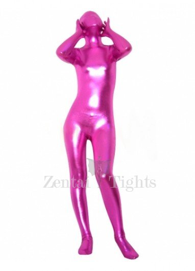 Rose Shiny Metallic Unisex Morph Suit Zentai Suit