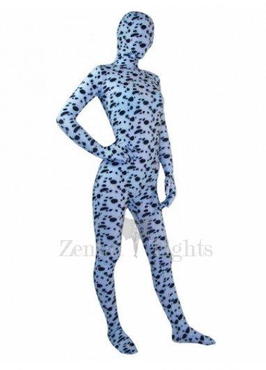 Spotted Dog Pattern Lycra Spandex Unisex Morph Suit Zentai Suit