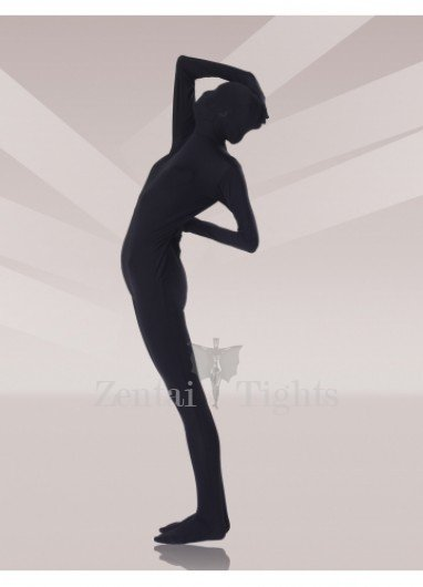Cool Black Silk Unisex Morph Suit Zentai Suit