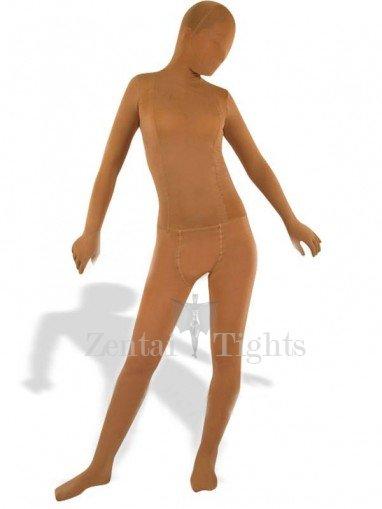 Flesh Color Velour Unisex Morph Suit Zentai Suit