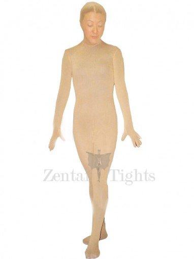 Flesh Velour Unisex Morph Suit Zentai Suit