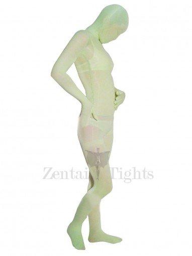 Green Transparent Velvet Unisex Morph Suit Zentai Suit