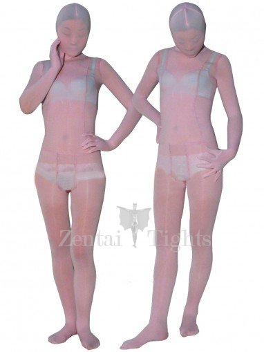 Light Pink Velvet Unisex Morph Suit Zentai Suit