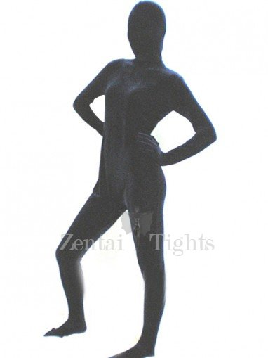 Navy Blue Silk Velour Morph Suit Zentai Suit