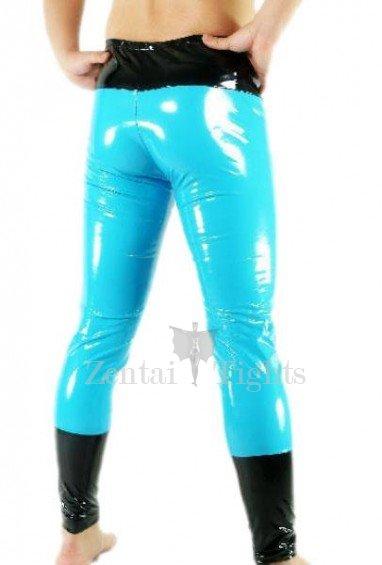 Blue PVC Catsuit Trousers