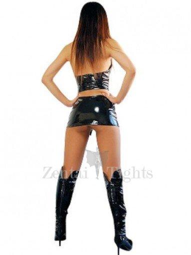 Popular Black PVC Sexy Dress