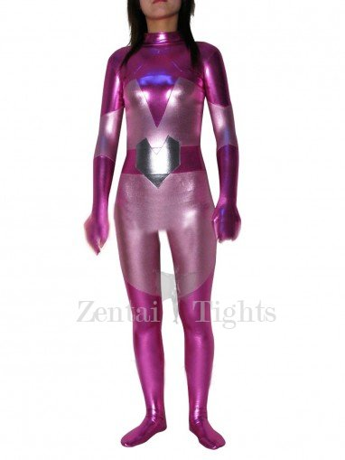 Purple PVC Catsuit
