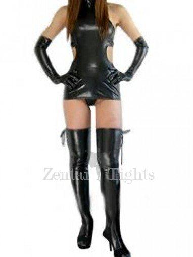Suitable Black Shiny Metallic Sexy Dress