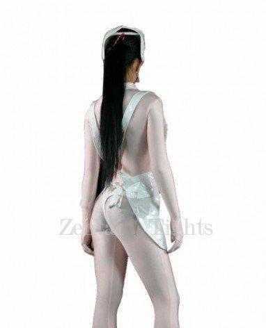 White Sexy Nurse PVC Apron