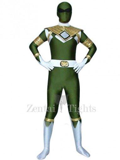 Green GouGou Senta Lycra Shiny Metallic Super Hero