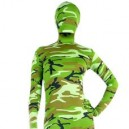 Supply Full Body Morph Suit Zentai Tights Green Soldier Camouflage Morph Suit Zentai suit