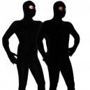 Black Velvet Spandex Morph Suit Zentai Costume