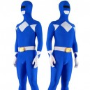 Supply Blue with White Lycra Spandex Unisex Morph Suit Zentai Suit