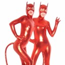 Supply Red Devil PVC Catsuit with Mask and Tail