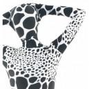 White Black Dot Lycra Spandex Unisex Morph Suit Zentai Suit
