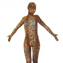 Cheap Tiger Pattern Lycra Spandex Unisex Morph Suit Zentai Suit