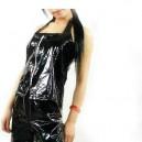 Black PVC Halter Unisex Catsuit