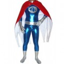 Supply Fantastic Four Shiny Metallic Catsuit with PVC Cape