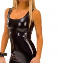 Supply Ideal Black Shiny Metallic Sexy Dress