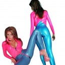 Supply Two Way Zipper PVC Unisex Catsuit