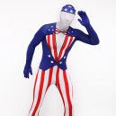 Usa National Flag Full Body Halloween Spandex Holiday Unisex...