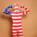 Usa National Flag Stripe Full Body Halloween Spandex Holiday Unisex Cosplay Zentai Suit