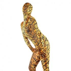 Sexy Tiger Pattern Lycra Spandex Female Morph Suit Zentai Suit