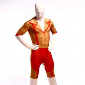 Orange Morph Suits Full Body Halloween Spandex Holiday Unisex Cosplay Zentai Suit