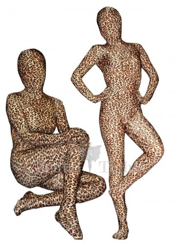 Full Body Morph Suit Zentai Tights Leopard Print Lycra Spandex  Morph Suit Zentai Suit