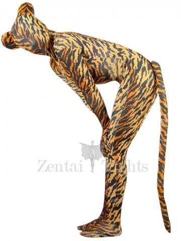 Full Body Morph Suit Zentai Tights Tiger Pattern Spandex Morph Suit Zentai Suit