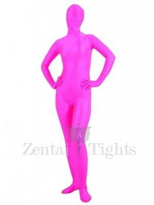 Ideal Unusual Cool Unicolor Full Body Morph Suit Zentai Tights Pink Spandex Morph Suit Zentai Suit